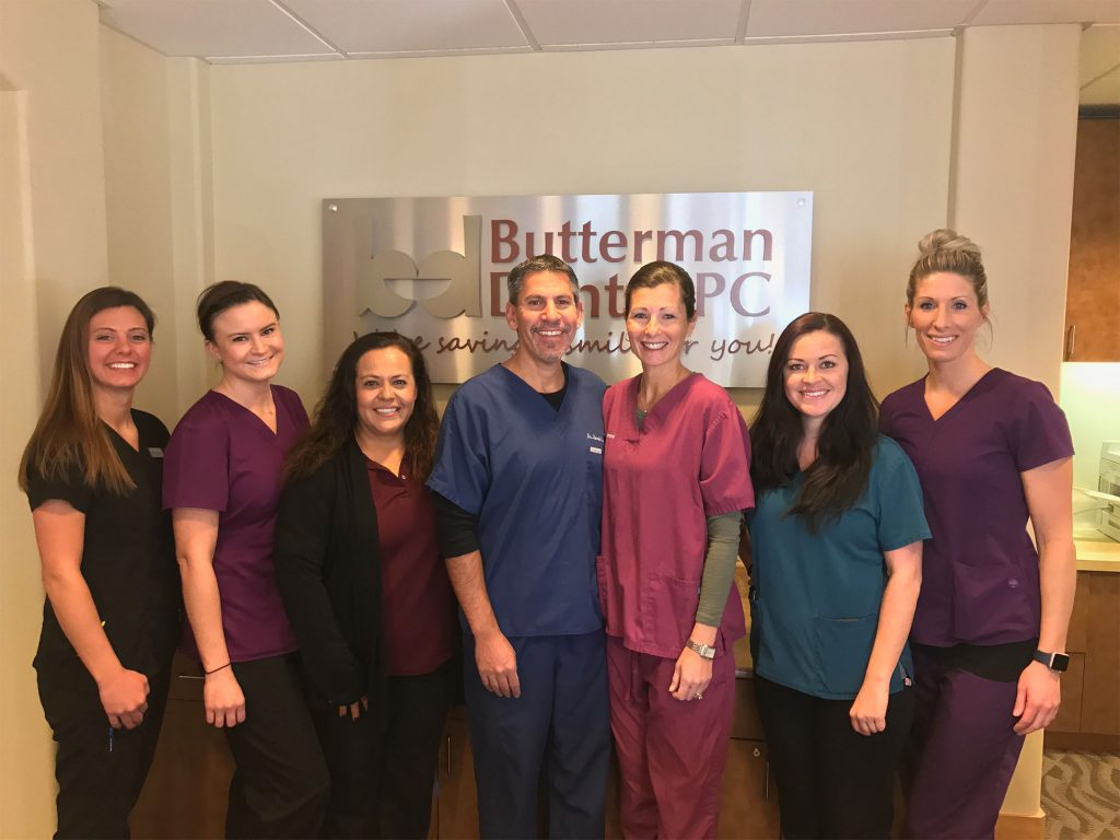 dentist and team photo